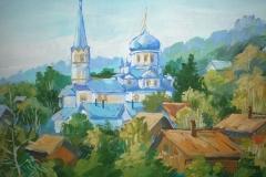 Крестовоздвиженская церковь. Рисунок с выставки Город и дети