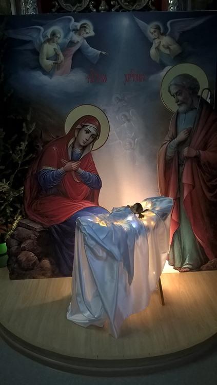 рождественский вертеп в храме 1